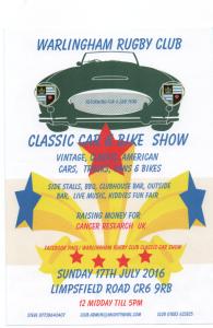 Warlingham Rugby Club Classic Car Show